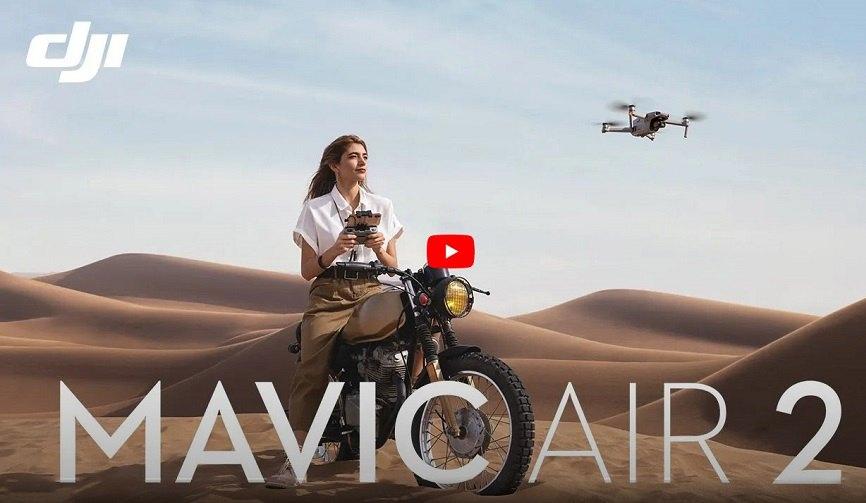 بررسی هلی شات مویک ایر 2 | بررسی ویدئویی و کامل کوادکوپتر dji mavic air 2