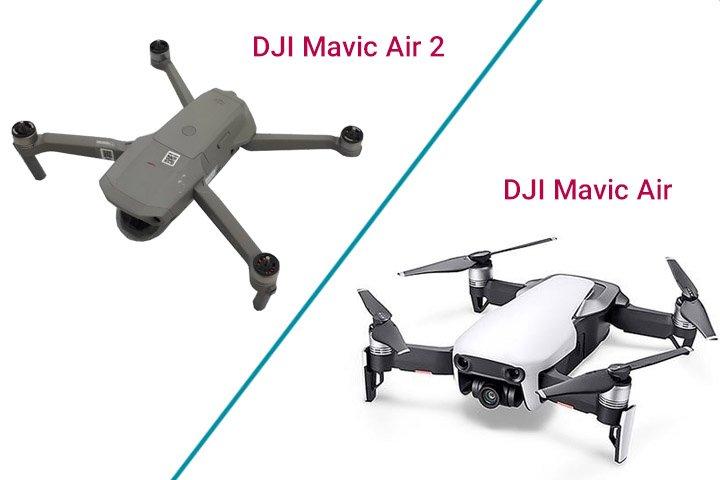 مقایسه و تفاوت DJI Mavic Air 2 با Mavic Air