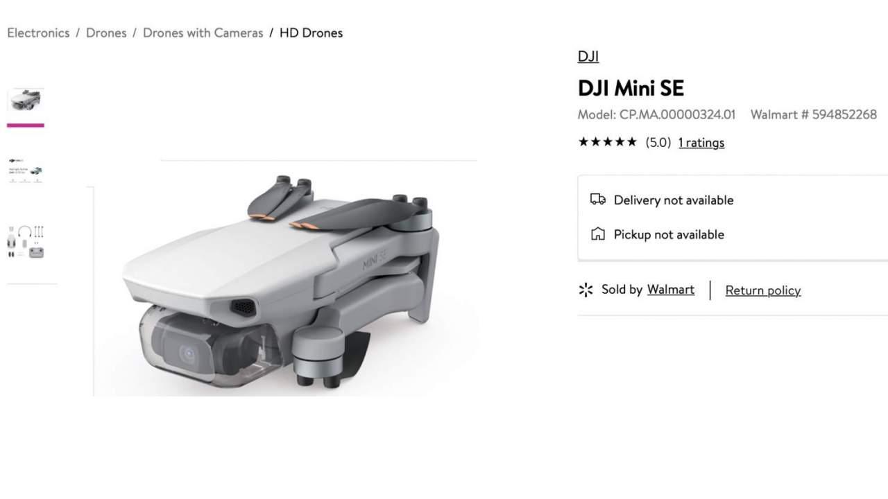 DJI Mini SE djiland com a